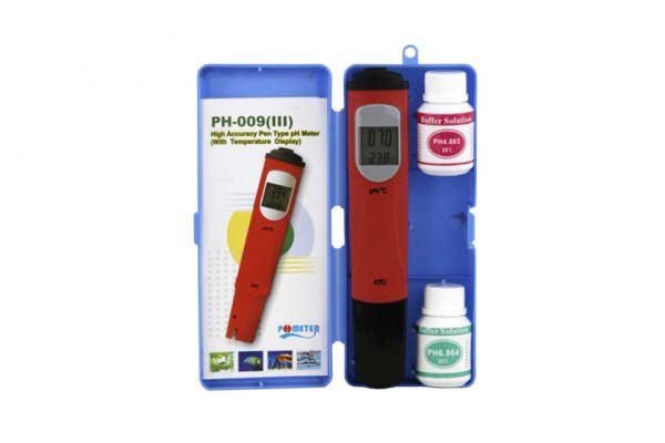Aqua Light pH und °C-Tester digital, mit Eichlösung pH4 + pH7, für Süß-/Meerwasser