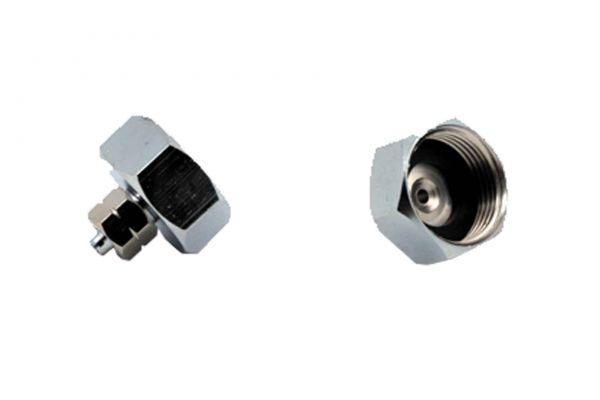 """Aqualight Metall-Wasserhahn-Anschluß: 3/4Zoll-Innengewinde auf 4/6mm Schlauch (1/8"""")"""