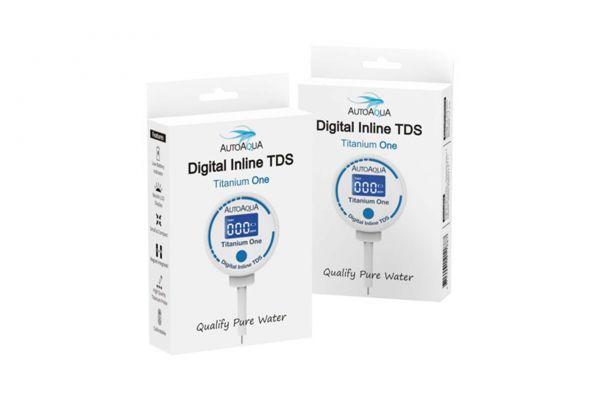 AutoAqua Digital Inline TDS Messgerät - Titanium One