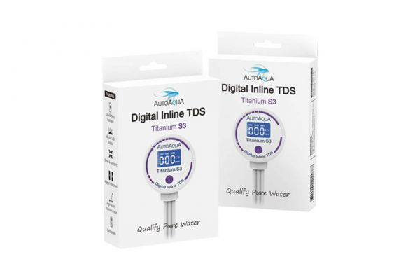 AutoAqua Digital Inline TDS Messgerät - Titanium S3