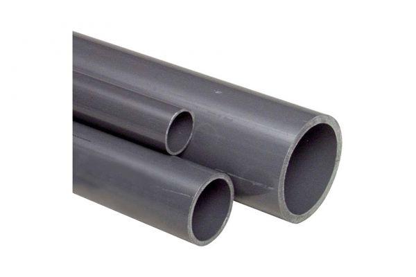 PVC Rohr 1 Meter grau