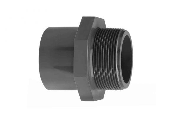 PVC Übergangsnippel mit Stoßrand