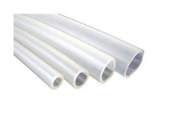 Silicone hose 23.5 x 4mm transparent/  natural-coloured 20cm piece