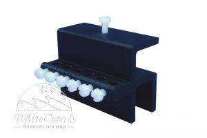 Aqua Connect Tube Fixation 6-fold for bridge and glass edge