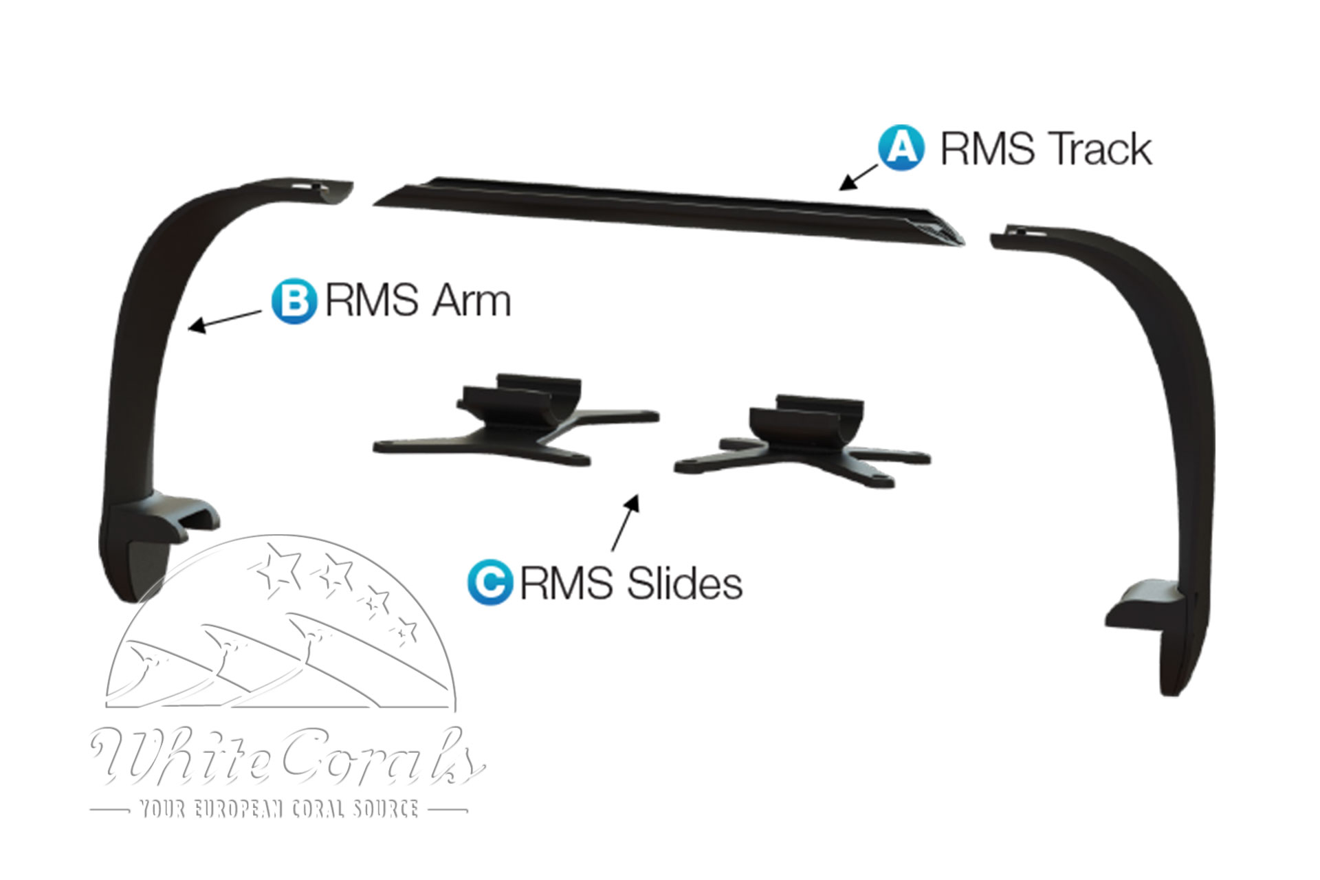 Ecotech Marine Multi-Light RMS Arm Kit - 2 Arms (Mount. System Part B)
