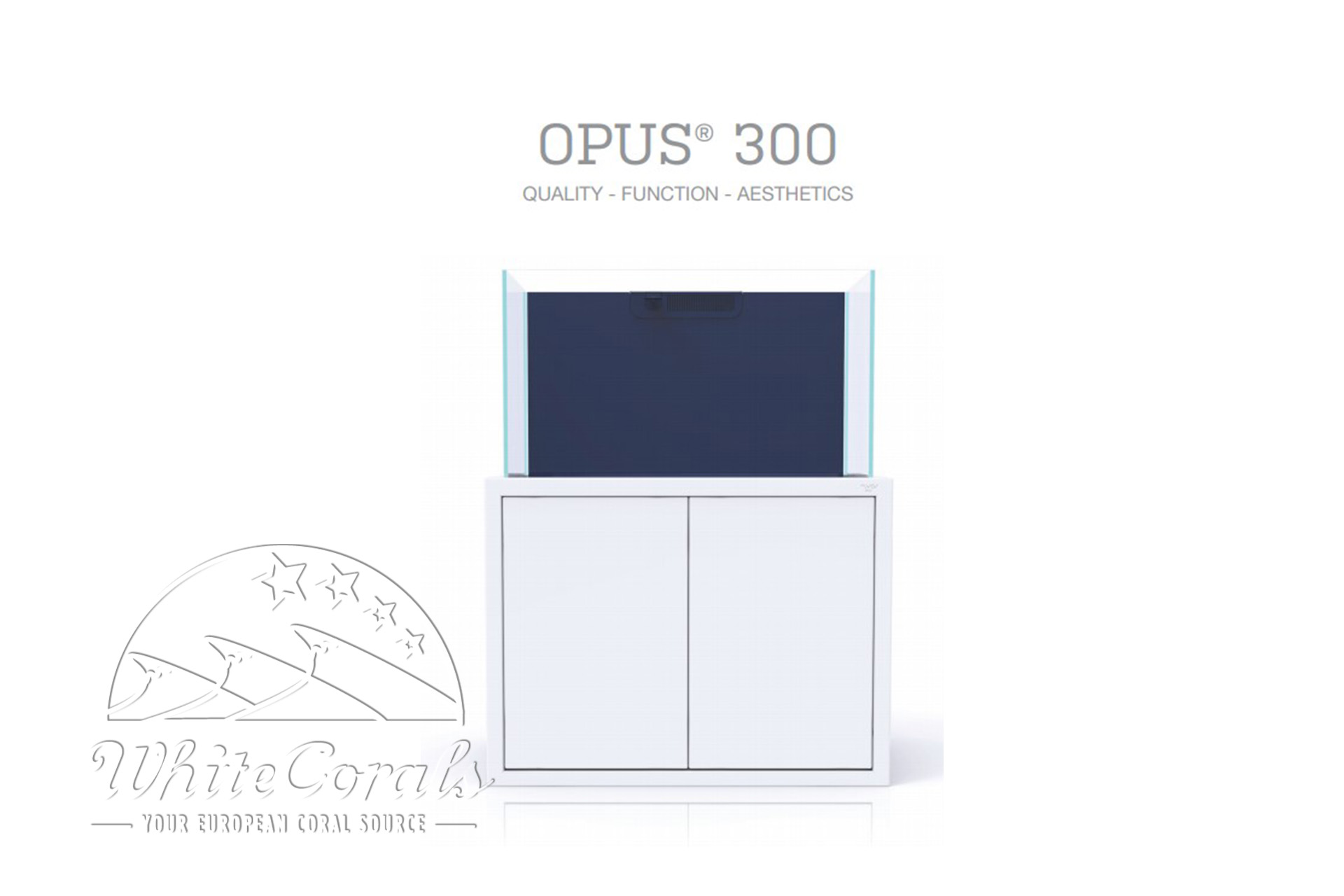 Nyos Opus 300 Aquarium weiss