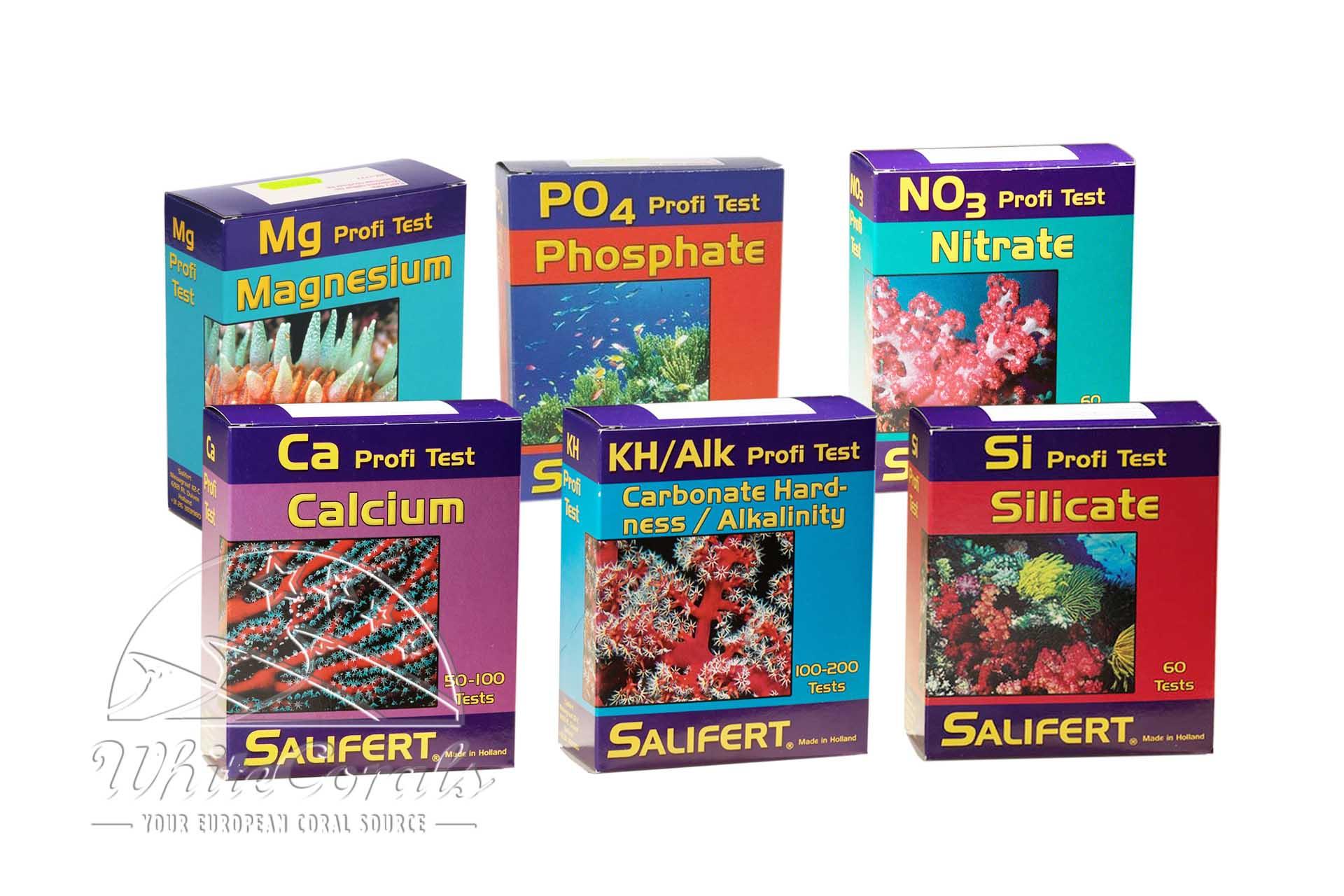 Salifert Mg,Ca,PO4,NO3,KH Alk,Si Test Kit Wassertest